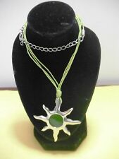COLLANA SOLE VERDE - GREEN NECKLACE WITH A CUTE GREEN SUN SUMMER ITEM 2014