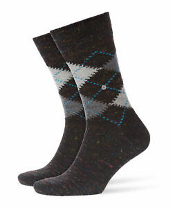 Burlington Men's Socks Tweed Argyle, short Sock, Diamond, One Size, 40-46
