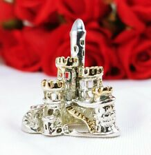 Silver Plated 3D Castle Fairyland Medieval Cinderella Pendant for Necklace