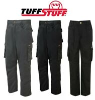 TUFFSTUFF Pro Work Cargo JUNIOR Trousers WORKWEAR - BOYS Girls Kids 3 to 3 YEARS