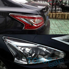 FIT FOR  NISSAN ALTIMA TEANA CHROME FRONT REAR HEADLIGHT TAILLIGHT LIGHT COVER
