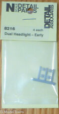 Detail Associates #8216 Headlights -- Dual, Early (Plastic) (N Scale)