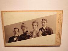 2 junge Männer & 2 schöne Mädchen - junge Frauen / 1899 CDV Carl Müller Berlin