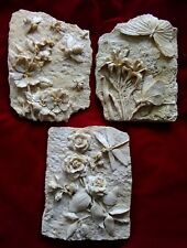 3 new latex moulds,candle,garden ornaments, dragonfly,bee,butterfly plaques SALE