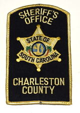CHARLESTON COUNTY SOUTH CAROLINA SC Sheriff Police Patch STATE SEAL PALM USED ~