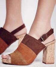Free People Paradise Patchwork Block Heels By mtng Originals EUR 39 Retails $120