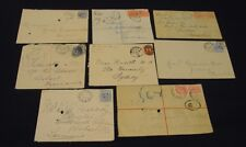NSW  1880s to 1910s period covers with stamps attached - 8 items.