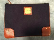 Miche Tablet Case Bag iPad Navy Blue Fabric Faux Leather Accent