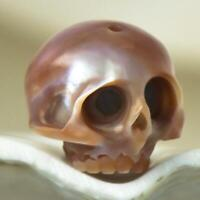 10.56 mm Human Skull Bead Carving Kasumi-like Freshwater Pearl 1.77 g drilled