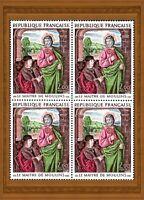 France 1973 ART, Œuvre du Maître de Moulins, bloc de 4, neuf ** MNH YT 1732