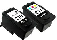 2PK FOR CANON PG 210 CL 211 2976B001 2974B001 PIXMA IP2700 IP2702 MP230 MP240