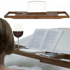 Regalos para los amantes del libro de madera de bambú baño Caddy Bandeja-Libro Soporte Ipad Tablet H