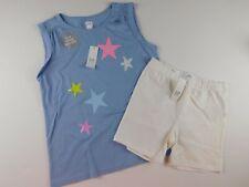 NWT GAP Girl's 2 Pc Outfi Flip Sequins Top Blue Stars - Tumbler Shorts XL New