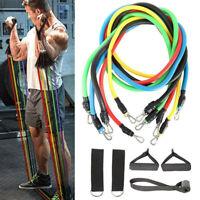 11x Elastic Resistance Bands Yoga Fitness Exercise Training Stretching Ropes Set