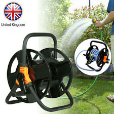 More details for portable free standing water pipe hose reel garden holder trolley cart carrier u