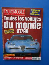 """L'Automobile """" TOUTES LES VOITURES DU MONDE """"  1997-1998 Hors-Série  N° 20"""