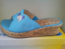 Scholl  Nectar Softstep Turquoise size 40  Mules (RRP£40)