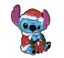 More details for disney inspired christmas stitch lilo and stitch enamel pin badge