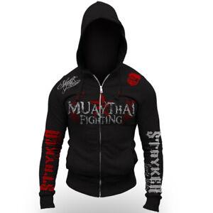 Muay Thai Fighting Tigers Brand New Zip Up Hoodie Jumper Sweatshirt UFC MMA NHB