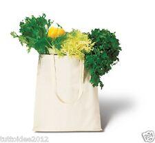 10 BORSA PER LA SPESA shopping shopper bag manici lunghi in cotone (ser)