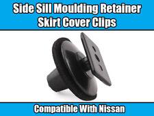 Clip 20x per Nissan Lato Davanzale Gonna Modanatura Fermo Copertura in plastica nera