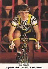 CYCLISME carte cycliste ERIC BOYER équipe RENAULT ELF 1985