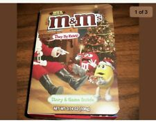 """RARE!  M & M's Story and Game Box with 8 Packs of M&Ms Inside """"They do Exist"""""""