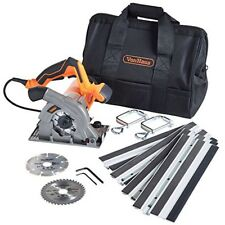 Plunge Saw with Guide track Compact 1050w 28mm Cutting Depth Blades & Carry Bag