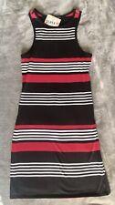 DEREK HEART Dress • Women/Juniors • Striped Black Red &White • Size Medium • NWT