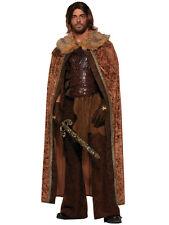 Mens Brown Fur Cloak Jon Snow Medieval Fancy Dress Costume Adult Game Of Thrones