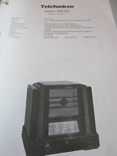 Schaltplan N Radio Telefunken Modell H, 1924