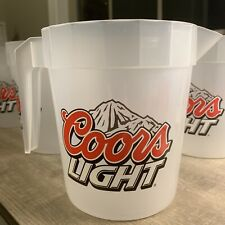 Plastic Beer Pitcher Coors Light New Lot Of 5