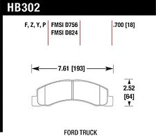 Hawk Performance HB302Z.700 Stable Friction Output Disc Brake Pads