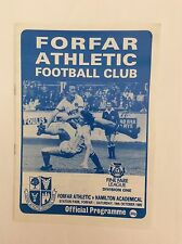 Forfar athletic v Hamilton academical finefare leauge division 1 October  1985