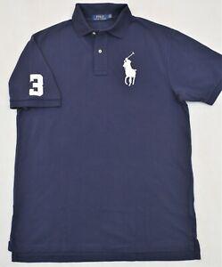Polo Ralph Lauren Shirt Navy Big Pony Mesh LT & XLT L XL Tall NWT $125