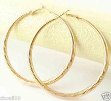 HOT New 9k Gold Filled Fashion Stylish Lady Ear Stud Hoop Earring 470