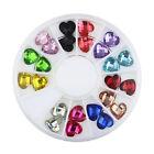 1Box 8*8mm Nail Wheel Art DIY Acrylic Heart Crystal Charms Decoration ZP107