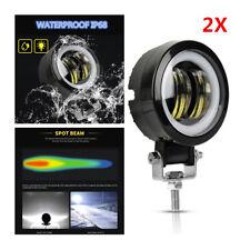 "3"" Round LED Angel Eyes Light Bar Work Light Spot Light Offroad ATV Car Boat"