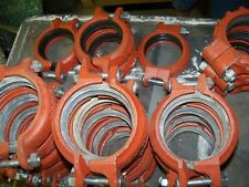 """3"""" Victaulic 3/88.9 FireLock EZ Coupling Pipe Clamps - Mixed Lot of 26"""