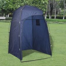 Floorless Shower/WC/Changing Tent with Bag Beach Camping Portable Private Blue