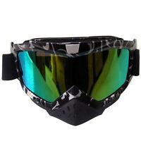 Motorcycle Motocross ATV Goggles Glasses Dirt Bike Riding Off Road Color Eyewear