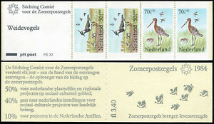 Netherlands B603a,Booklet,MNH.Birds.Eurasian Lapwings, Black-tailed godwits,1984