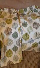 Pair of Curtains Floral Design Cotton