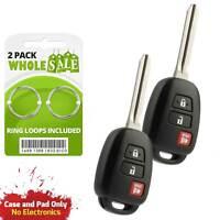 2 Replacement For 2014 2015 Toyota Rav 4 Rav4 Car Key Fob Remote Shell Case