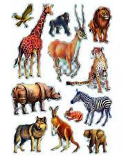 """Sticker """"Tiere Afrikas"""" Prismaticfolie, Löwe, Zebra, Aufkleber, Karten basteln"""