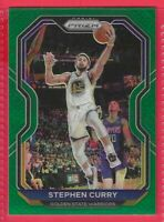 2020-21 Panini Prizm Stephen Curry Green Prizm Card #159 Golden State Warriors