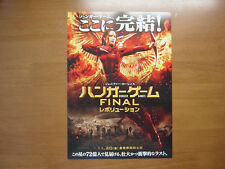 The Hunger Games: Mockingjay - Part 2 MOVIE FLYER mini poster ver.2 Japanese