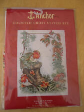 Floral Robins Counted Cross Stitch Kit Anchor PCE853 Sealed Birds