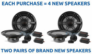 """(2) CRUNCH 300W 6.5"""" Shallow Mount Component Car Stereo Speaker System 