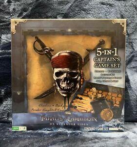 Disney Pirates of Caribbean Stranger Tides 5-in-1 Captain's Game Set Brand NEW